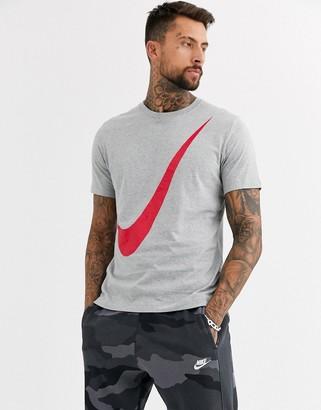 Nike Swoosh t-shirt in grey