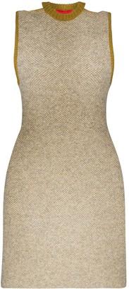 Eckhaus Latta two-tone cut-out neck mini dress