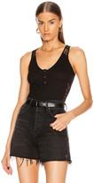 Fleur Du Mal Magnolia X Rib Bodysuit in Black | FWRD