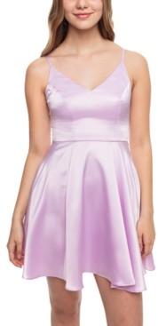 B. Darlin Juniors' Satin Fit & Flare Dress