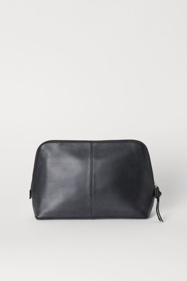 H&M Spacious Leather Toiletry Bag - Black