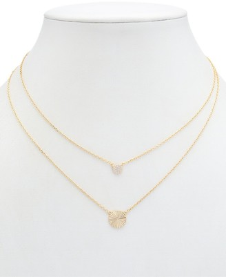 Alanna Bess Limited Collection 14K Over Silver Cz Circle Necklace