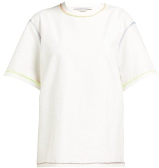 Stella McCartney Rainbow-stitch Cotton T-shirt - Womens - White