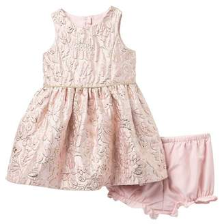 Pippa Pastourelle by and Julie Floral Metallic Brocade Dress (Baby Girls)