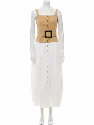 STAUD Square Neckline Long Dress