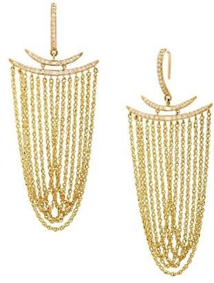 Celara 14K Yellow Gold & Diamond Statement Earrings