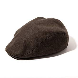 The DUFFER of ST. GEORGE accsa Mens Flat Cap Collection Textured Linen Scally Driver Irish Gentle Newsboy Hat Coffee