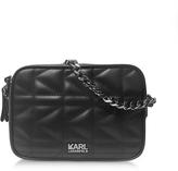 Karl Lagerfeld K/Kuilted Black Leather Crossbody Bag