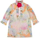 Gucci Children's hydrangea print silk dress