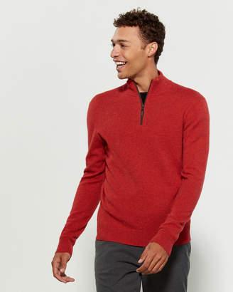 Qi Long Sleeve Cashmere Quarter-Zip Sweater