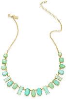 Kate Spade Gold-Tone Aqua Stone Graduated Collar Necklace