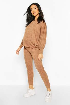 boohoo Maternity Balloon Sleeve Lounge Set
