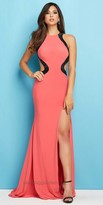 Mac Duggal Glitter Cut Out Dress