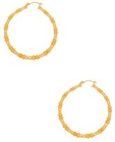 Vanessa Mooney Fillmore Bamboo Large Hoop Earrings