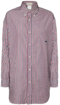 Etro Oversize Cotton Poplin Stripe Shirt
