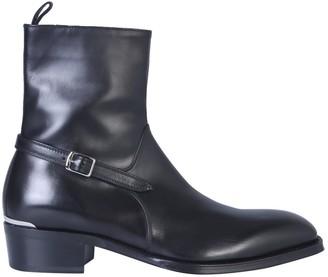 Alexander McQueen Boot With Side Zip