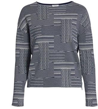 Akris Punto Crosshatch Cotton & Wool Sweater