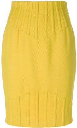 Thierry Mugler Pre-Owned Rib Detail Pencil Skirt