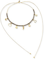 INC International Concepts Gold-Tone Beaded Charm Choker Necklace, Only at Macy's