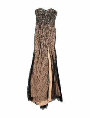 Jovani Strapless Long Dress Black
