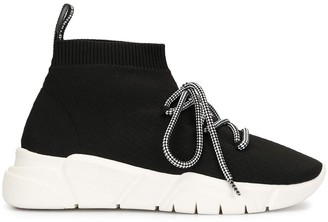 Love Moschino Lace-Up Sock Sneakers