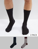 Selected Homme 2 Pack Sock In Stripe
