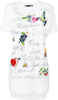 Love Moschino graphic print T-shirt dress - women - Cotton/Spandex/Elastane - 40
