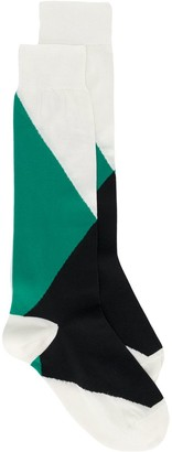 Marni Colour-Block Inlayed Socks