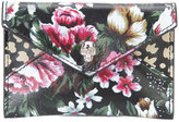 Alexander McQueen floral envelope wallet