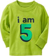 "Old Navy ""I Am 5"" Tees for Baby"