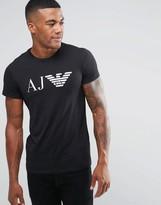 Armani Jeans T-Shirt With AJ & Eagle Logo In Slim Black