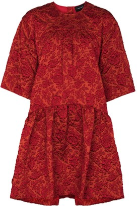 Simone Rocha x Browns 50 oversized floral-cloque dress