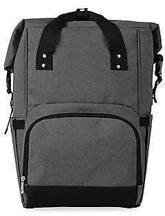 Picnic Time On The Go Roll-Top Cooler Backpack - Heathered Grey