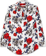 Equipment Signature Floral-print Silk Crepe De Chine Shirt - Red