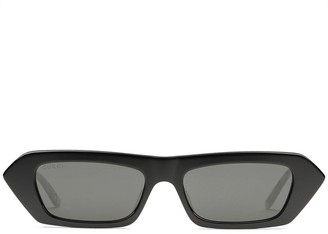 Gucci Crystal Embellished Rectangular Sunglasses