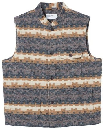 Universal Works Battleman Waistcoat Chocolate Black - S