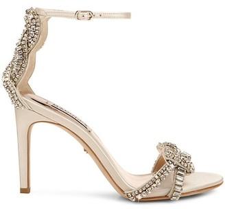 Badgley Mischka Zadie Embellished Ankle-Strap Sandals