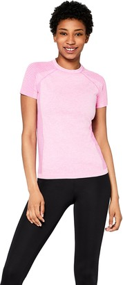 Aurique Amazon Brand Women's Seamless Sports T-Shirt