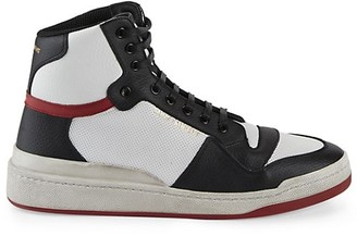 Saint Laurent SL24 High Top Leather Sneakers