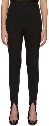 Low Classic Black Zipper Trousers