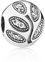 Pandora Clip - Sterling Silver & Cubic Zirconia Sparkling Leaves, Moments Collection