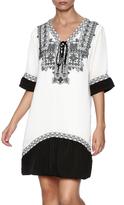Jade White Black Embellished Dress