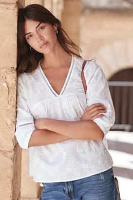 Next Womens White Broderie Top - White