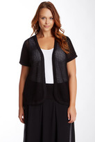 Vince Camuto Open Front Cardigan (Plus Size)