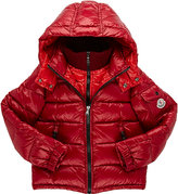 Moncler Hooded Puffer Jacket-RED