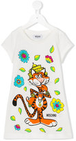 Moschino Kids - tiger print dress - kids - Cotton - 4 yrs