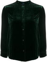 Aspesi velvet collarless blouse