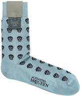 Alexander McQueen Printed Cotton Socks