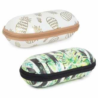 Tickled Pink Women's Hard Shell Case for Eye Glasses and Sunglasses