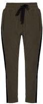 Haider Ackermann Duplessis slim-leg cotton and wool-blend trousers
